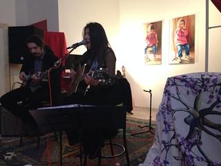 Giuliana in concerto fra le opere di Luisa