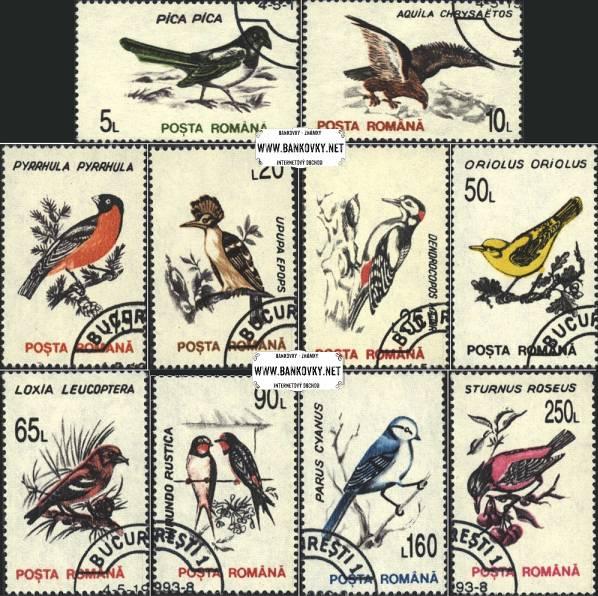Známky Rumunsko 1993 Vtáci, razítkovaná séria