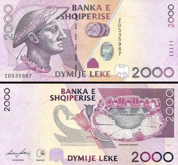 2000 Leke Albánsko 2007, P74