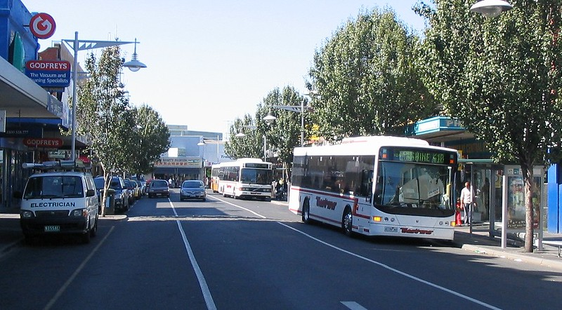 Footscray bus interchange, April 2007