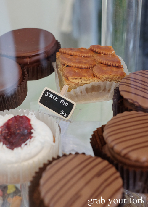 Jatz pie at Sweet Envy patisserie in Hobart Tasmania