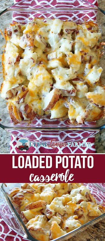 Tired of the same old mashed potatoes? Too lazy to make stuffed potatoes? Try this loaded potato casserole instead with bacon, ranch dressing, sour cream and cheese!