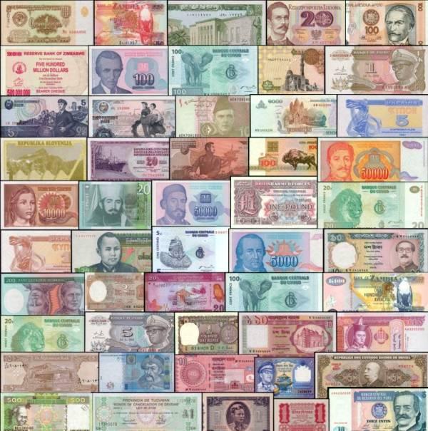 250 rôznych bankoviek svet