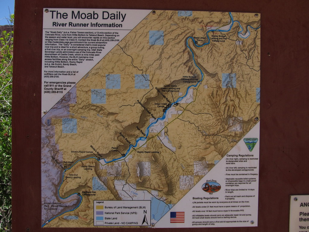 Moab Daily Map, Rocky Rapid, Colorado River, Near Moab, Ut… | Flickr