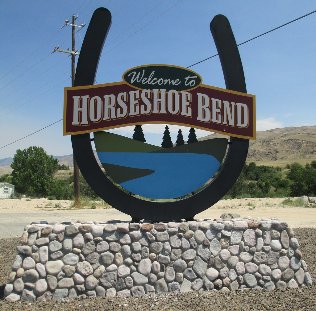 Welcome To Horseshoe Bend Sign Horseshoe Bend Idaho