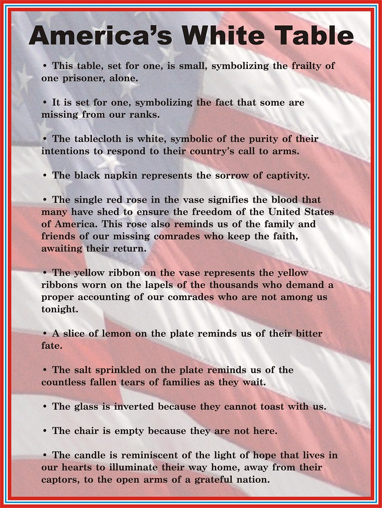veterans day quotwhite tablequot display description sign flickr