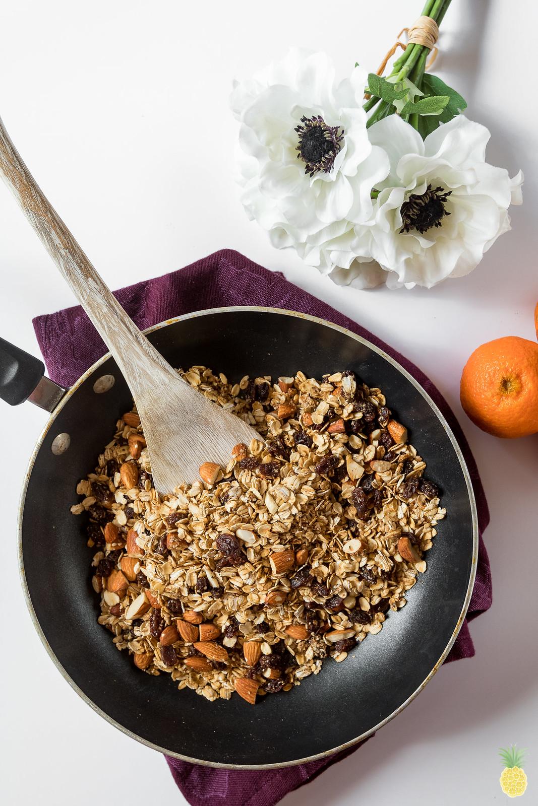 6-Ingredient Stovetop Granola {oil- & gluten-free} sweetsimplevegan.com