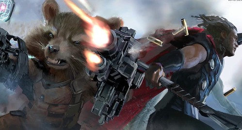Rocket Raccoon x Thor Infinity War
