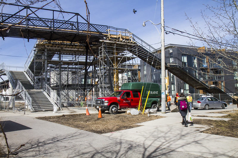 Wallace Avenue Bridge - new staircase near completion