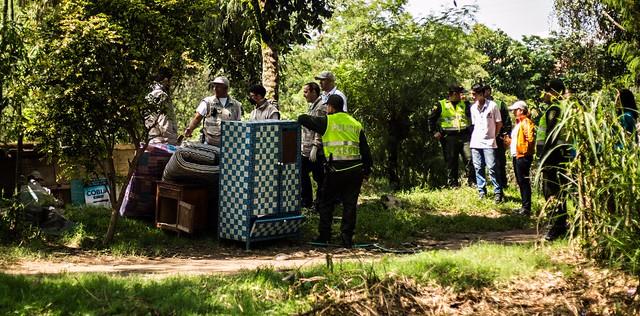 Desalojo en la Iguaná