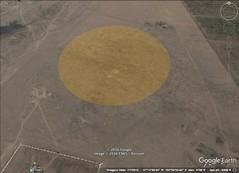 Karakorum, Mongolia. 1 kilometer diameter