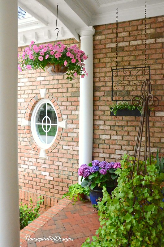 Spring Porch 2017-Petunias-Hydrangeas-Housepitality Designs