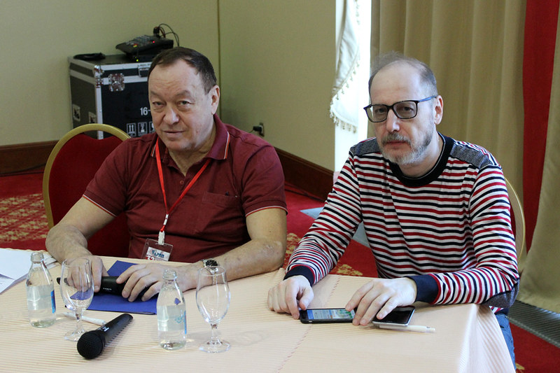 Президиум конференции: Александр Оськин (АРПП), Андрей Авдонин (Мир Новостей, НАИ)