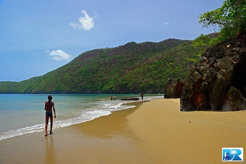 Secluded Beach, Samana Peninsula. Find travel tips to the Dominican Republic at DRVisitor.com