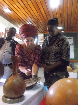 Heidi Cutts works with the Ethiopian National Museum staff