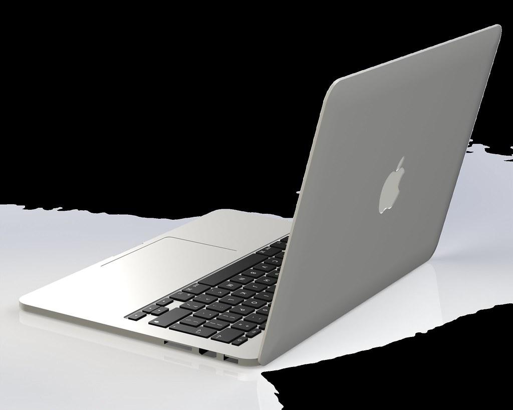 Render Macbook Pro 13 D Model Render