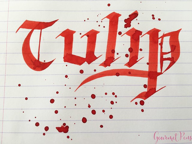 Ink Shot Review Diamine Flowers Tulip @AppelboomLaren  6