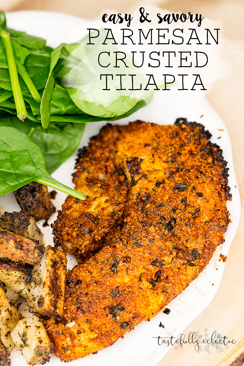 Easy and Savory Parmesan Crusted Tilapia