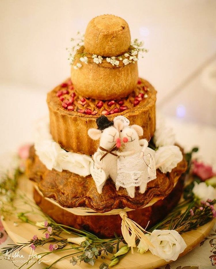 What A Gorgeous Idea To Have A Pie Wedding Cake For A C Flickr