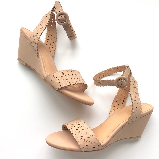 LOFT Cutout Wedge Sandals
