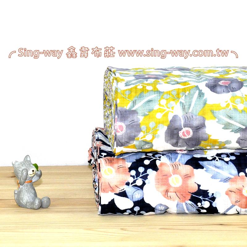 牽牛花 優雅花卉 夏季服裝布料 CH1490097