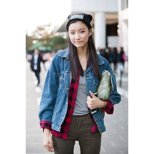 Classic Jean Jacket With Red Flannel Layering And A Camou Flickr
