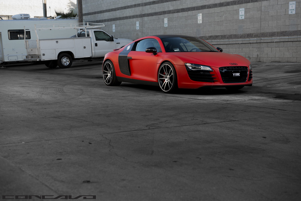 Audi R8 Matte Red On Cw S5 Matte Black Machined Face Flickr