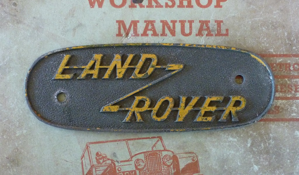 original land rover series 1 oval badge bought of ebay rec flickr rh flickr com land rover series 1 parts manual land rover series 1 restoration manual pdf