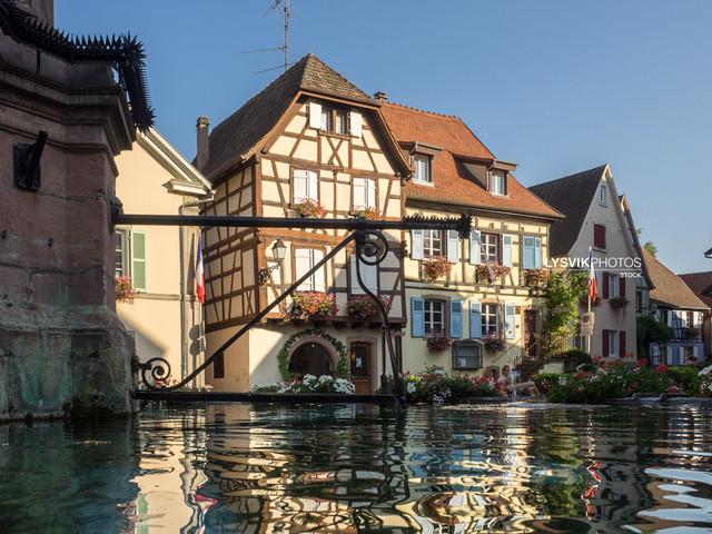 Fountain on Saint Leon Square - Eguisheim, Alsace