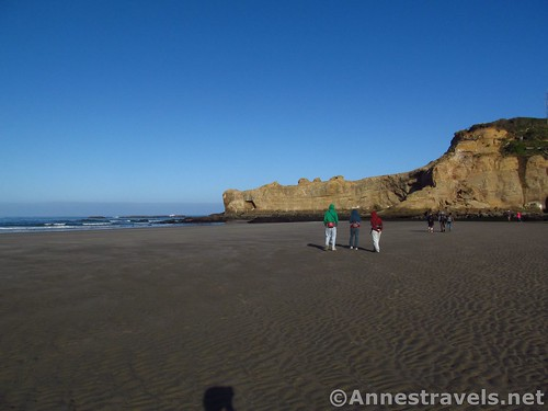 Exploring the beach walking right from the bottom of the stairs below the Punchbowl trailhead, Oregon