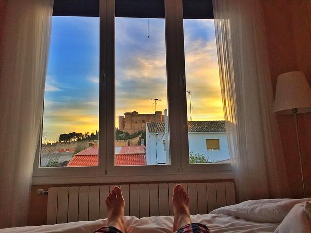 Habitación con vistas en la Casa Insula Barataria, uno de los mejores alojamientos donde dormir en Belmonte