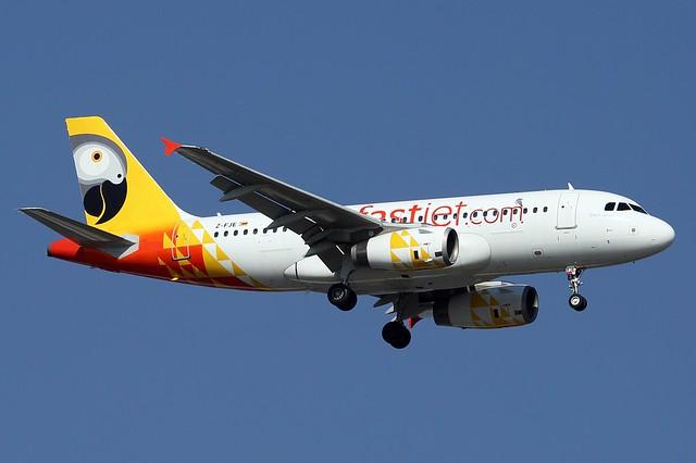 A.319-131 C.n 2281 'Z-FJE' Fastjet Zimbabwe