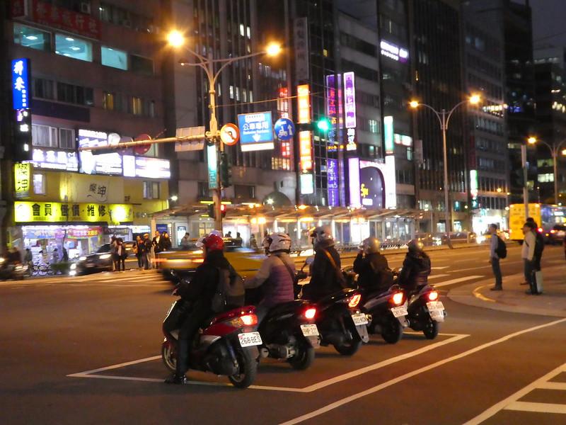 Night street scene, Taipei