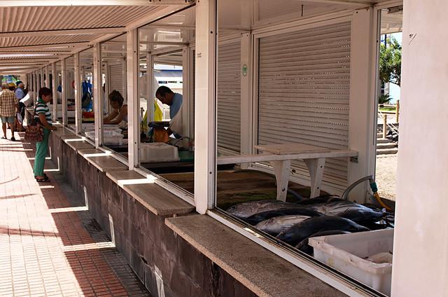 Fish stalls, Las Galletas, Tenerife