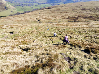 Descending back to Edale