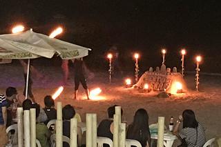 Puerto Galera - Beach fire dancing