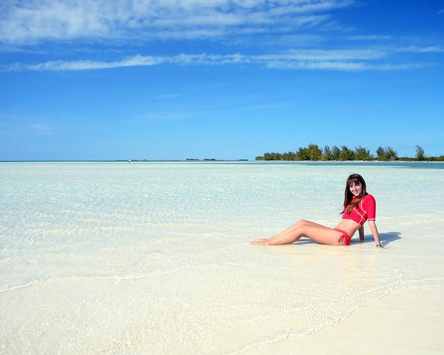Una sirena en playa Sirena