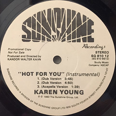 KAREN YOUNG:HOT FOR YOU(LABEL SIDE-B)