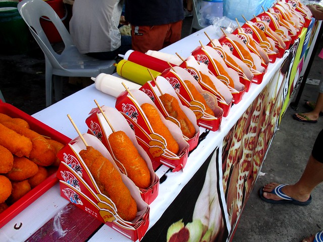 Asian Food Fest deep-fried sausage in bread crumb-coated batter