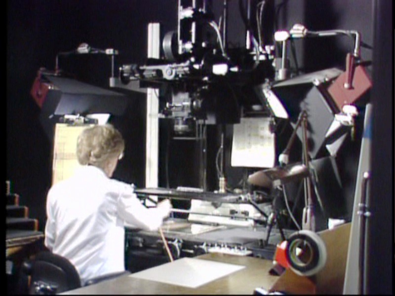 Rostrum camera operator at work here 39 s an example of a for Animation stand
