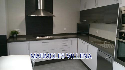 marmoles villena encimera silestone cemento spa encimera