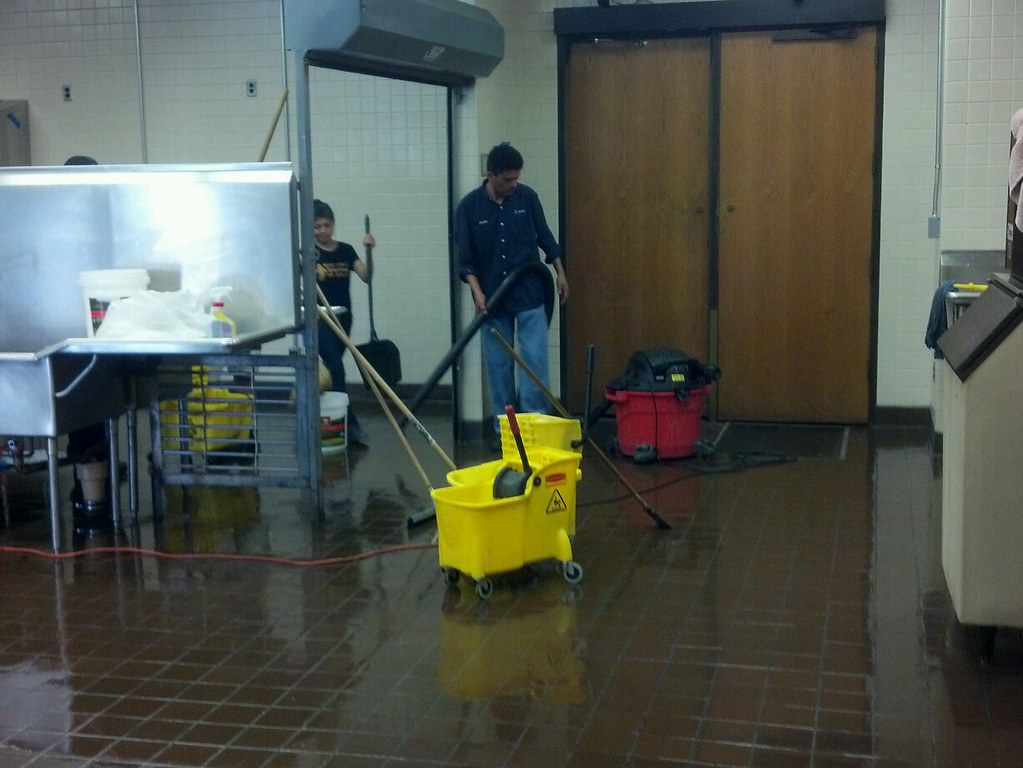 Commercial kitchen floor cleaners