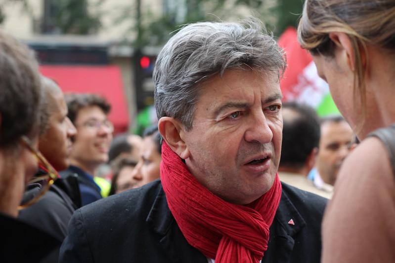 Jean-Luc Mélenchon à la manifestation contre la réforme des retraites - 10 septembre 2013