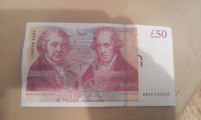 how to get 50 pound notes