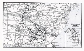 Central Of Georgia Railway System Map 1948 Map From May Flickr
