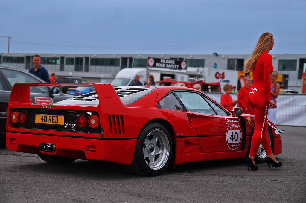 Ferrari F40 And Mr Hobbs Coffee Hostess Anastasia