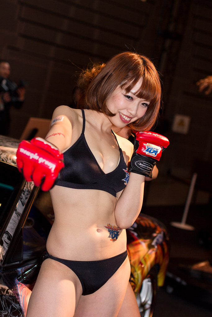Newgin tokyo auto salon 2014 show girl makuhari chiba flickr - Tokyo motor show 2014 ...
