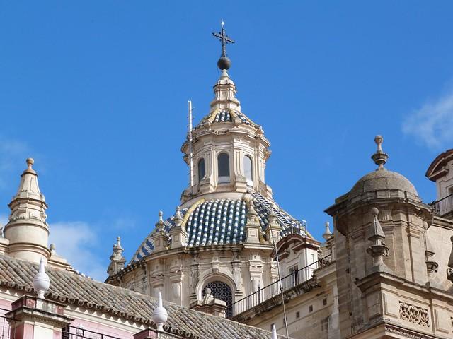 Fotografía de una cúpula de Sevilla