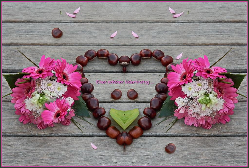 Einen Schönen Valentinstag Wir Möchten Ganz