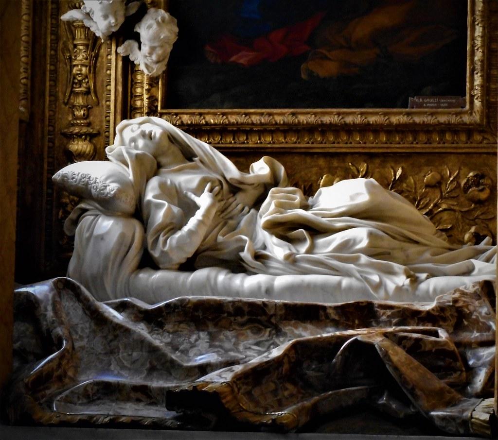 "... blessed Ludovica Albertoni"" (1671-1674) by Gian Lorenzo Bernini ("